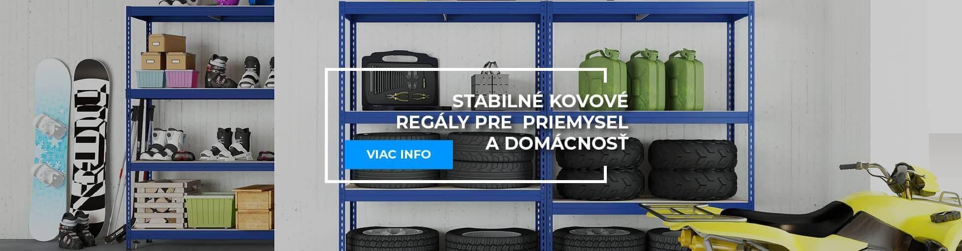 Kovové regály & regálové systémy - Garage