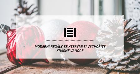 Moderní regály se kterými si vytvoříte krásné Vánoce