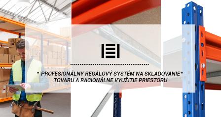 Profesionálny regálový systém na skladovanie tovaru