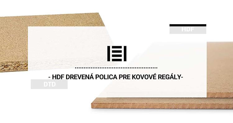 HDF drevená polica pre kovové regály